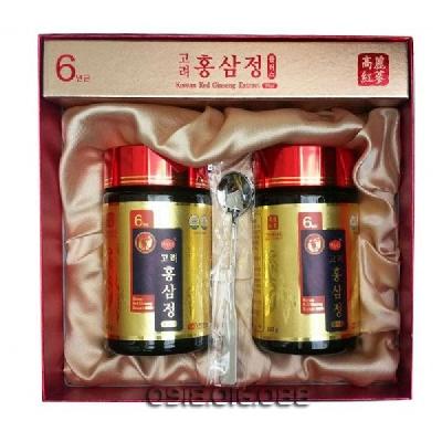 Cao hồng sâm KGC 240g - �ặc 5% (hàm lượng chất  rắn 60%, hàm lượng Ginsenosides Rg1, Rb1 và Rg3 là 6mg/g, Sâm Hàn Quốc 6  năm tuổi), si rô tinh bột, dextrin, Chiết xuất thảo mộc cô đặc (Xuyên  khung, Bạch thược, Đương quy, Cam