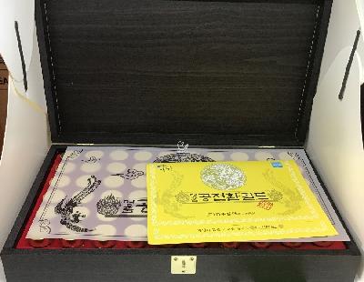 Đông trùng hạ thảo Hàn Quốc hộp gỗ 30 viên - ��n có thể dùng để làm quà biếu tặng cho ông bà, cha mẹ, bạn  bè vào những dịp lễ, tết sẽ rất ý nghĩa. Thành phần cấu tạo: Chiết xuất bột đông trùng hạ thảo (78,65%), màu thực phẩm, Titani
